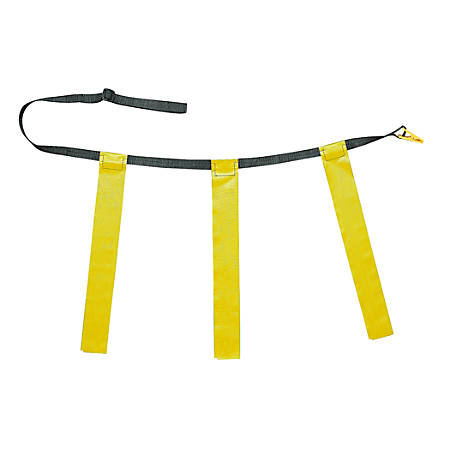 "Champion Sports Triple Flag Football Belt, Waist Size 25"" – 31"", Yellow, Set Of 12"