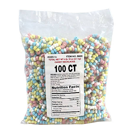 Smarties Unwrapped Candy Necklaces, Pack Of 100