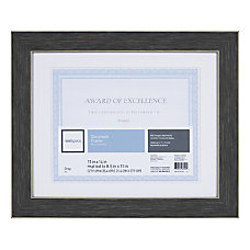 Realspace Wyeth Document Frame Dark Gray