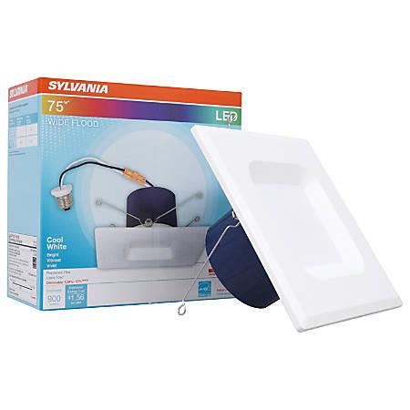 """Sylvania LEDvance Indoor/Outdoor Downlight LED Fixtures, 5/6"""" Diameter, Dimmable, 4000 Kelvin/Cool White, 13 Watt, 900 Lumens, Case Of 2 Fixtures"""