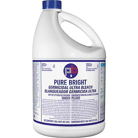 KIK Custom Pure Bright Germicidal Ultra Bleach - Liquid - 1 gal (128 fl oz)  - 1 / Each - White Item # 857478