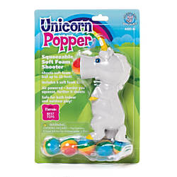 Hog Wild Toys Squeeze Poppers Unicorn