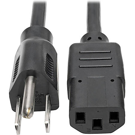 Tripp Lite 2ft Computer Power Cord Cable 5-15P to C13 13A 16AWG 2'