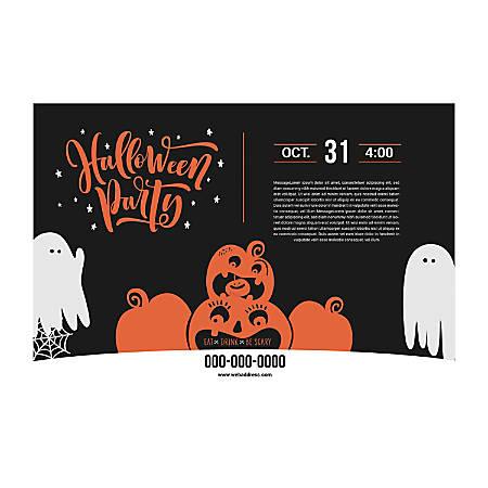 Banner Template, Horizontal, Pumpkin