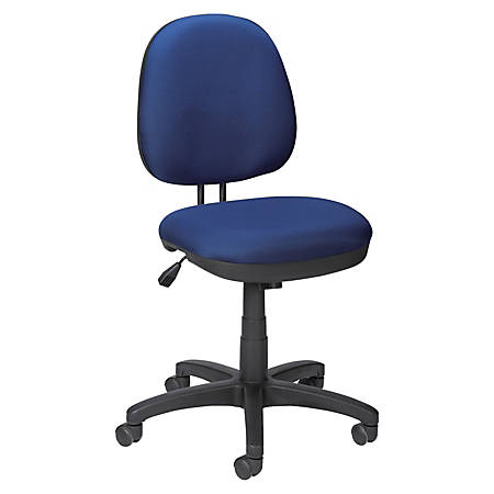 Lorell® Contoured Mid-Back Fabric Task Chair, Blue