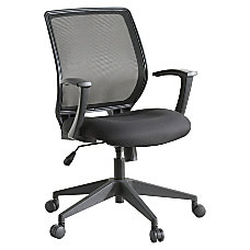 Lorell MeshFabric Mid Back Work Chair
