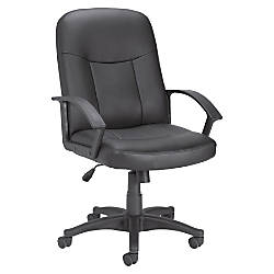 Lorell Managerial Bonded Leather Mid Back
