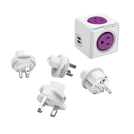 Allocacoc PowerCube ReWirable USB, Purple