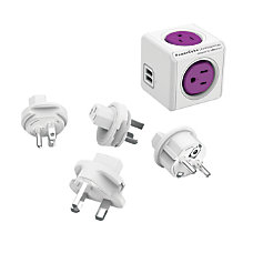 Allocacoc PowerCube ReWirable USB Purple