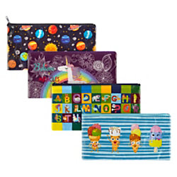 Office Depot® Brand Laminated Pencil Pouch, Assorted Colors