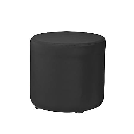 "Marco Round Seating Ottoman, 18""H, Black"