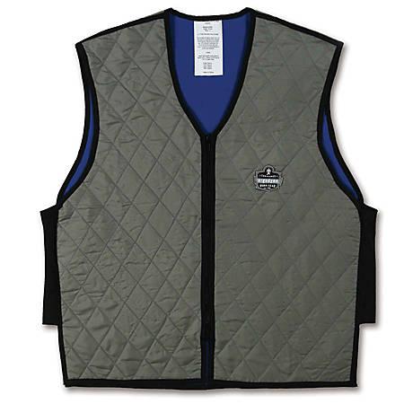 Ergodyne Chill-Its Evaporative Cooling Vest, XX-Large, Gray, 6665