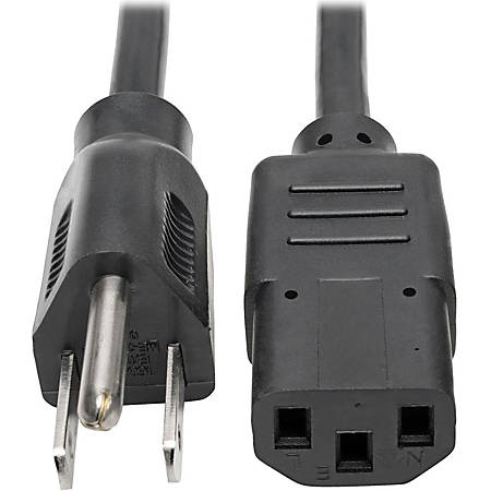 Tripp Lite 20ft Computer Power Cord Cable 5-15P to C13 10A 18AWG20'