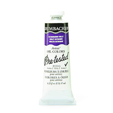 Grumbacher P221 Pre-Tested Artists' Oil Colors, 1.25 Oz, Ultramarine Violet, Pack Of 2