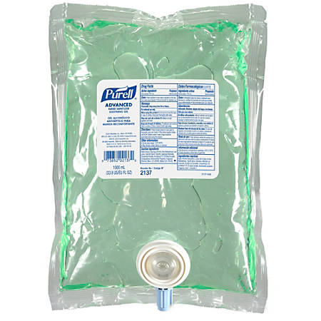 PURELL® Advanced Hand Sanitizer Soothing Gel, Fresh Scent, 1000ml Refill for NXT Push-Style Dispenser