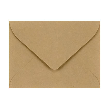 "LUX Mini Envelopes With Flap Closure, #17, 2 11/16"" x 3 11/16"", Grocery Bag, Pack Of 1,000"