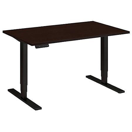 "Bush Business Furniture Move 80 Series 48""W x 30""D Height Adjustable Standing Desk, Mocha Cherry Satin/Black Base, Standard Delivery"
