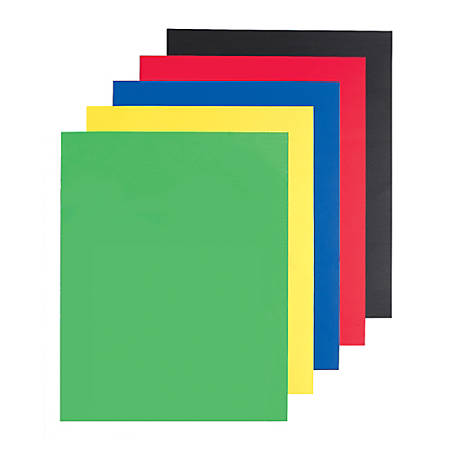 """Office Depot® Brand Poster Boards, 22"""" x 28"""", Assorted Colors, Pack Of 5"""