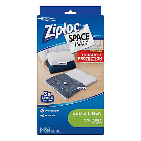 Ziploc® Space Bags, X-Large, Clear, Pack Of 2