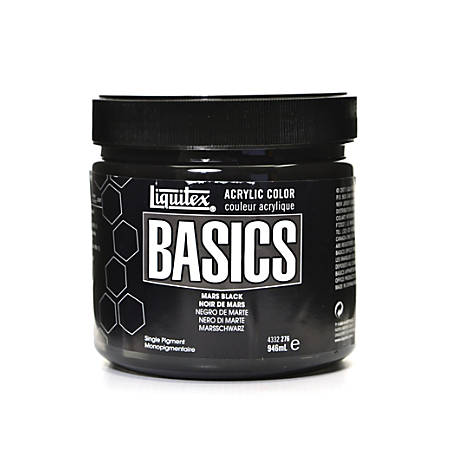 Liquitex Basics Acrylic Paint, 32 Oz Jar, Mars Black