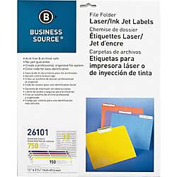 Business Source LaserInkjet File Folder Labels