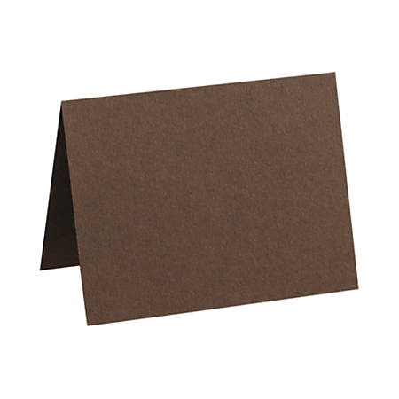 """LUX Folded Cards, A9, 5 1/2"""" x 8 1/2"""", Chocolate Brown, Pack Of 1,000"""