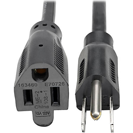 Tripp Lite 3ft Power Cord Extension Cable 5-15P to 5-15R 13A 16AWG 3' - (NEMA 5-15P to NEMA 5-15R) 3-ft.