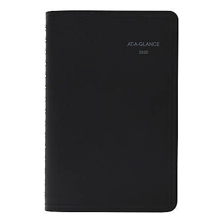 """AT-A-GLANCE® QuickNotes® Weekly/Monthly Planner, 5-1/2"""" x 8-1/2"""", Black, January To December 2020, 760205"""