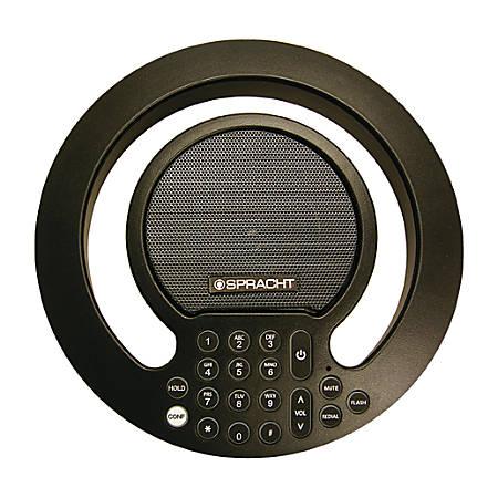 Spracht Aura SoHo Plus Conference Phone - Black - 1 x Phone Line - Speakerphone
