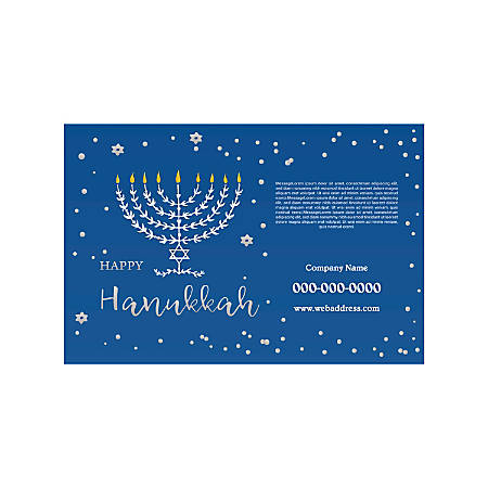 Poster Templates, Horizontal, Blue Candles