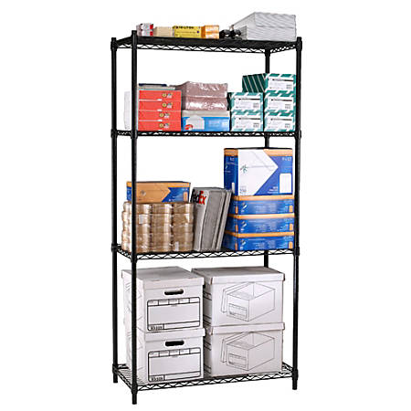 "OFM Heavy-Duty Storage Unit, 72""H x 48""W x 18""D, Black"