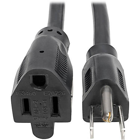 """Tripp Lite 6ft Power Cord Extension Cable 5-15P to 5-15R Heavy Duty 15A 14AWG 6' - 15A, 14AWG (NEMA 5-15P to NEMA 5-15R) 6-ft."""""""