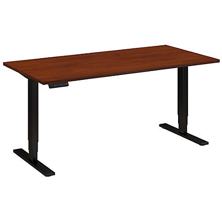 "Bush Business Furniture Move 80 Series 60""W x 30""D Height Adjustable Standing Desk, Hansen Cherry/Black Base, Standard Delivery"