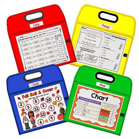 "C-Line® Portable Dry-Erase Pocket, 10"" x 13"", Assorted Colors"