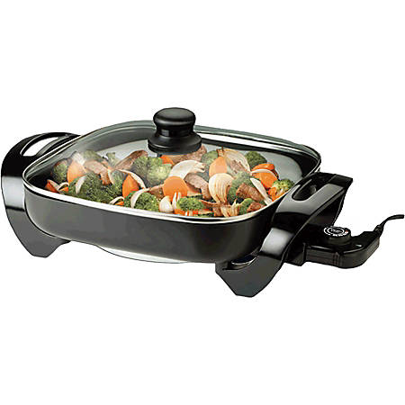 "Brentwood Electric Skillet - 12"" Width x 12"" Length"