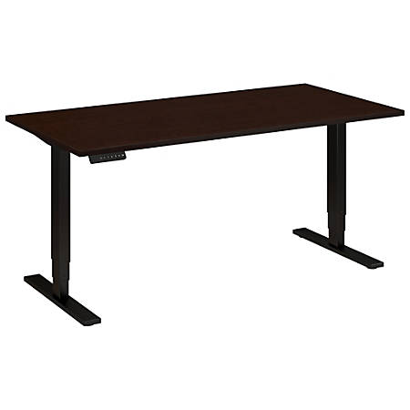 "Bush Business Furniture Move 80 Series 60""W x 30""D Height Adjustable Standing Desk, Mocha Cherry Satin/Black Base, Standard Delivery"