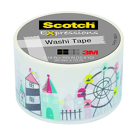 "Scotch® Expressions Washi Tape, 1 3/16"" x 393"", Carnival"