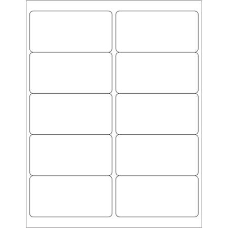 """Office Depot® Brand Blockout Laser Labels, LL290, 4"""" x 2"""", Opaque White, Pack Of 1,000"""