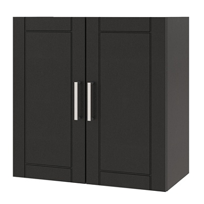Awe Inspiring Ameriwood Home Callahan 24 Wall Cabinet 2 Shelves Black Item 8591749 Interior Design Ideas Ghosoteloinfo