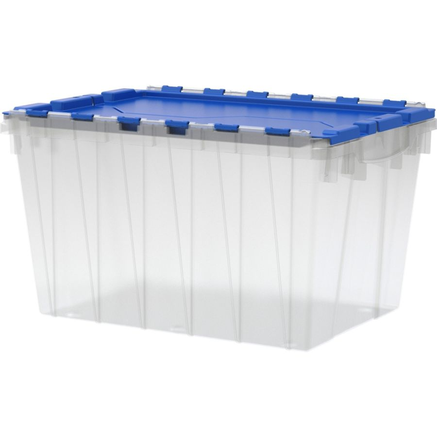 Akro Mils Keep Box Container With Lid 21 12 x 15 x 12 12 ClearBlue