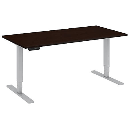 """Bush Business Furniture Move 80 Series 60""""W x 30""""D Height Adjustable Standing Desk, Mocha Cherry Satin/Cool Gray Metallic, Standard Delivery"""