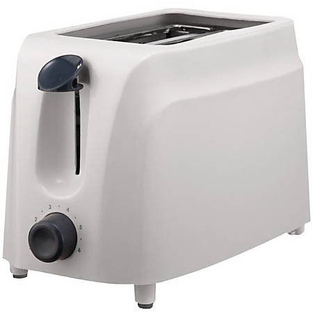 Brentwood TS-260W 2 Slice Cool Touch Toaster in White - 760 W - Toast, Browning - White