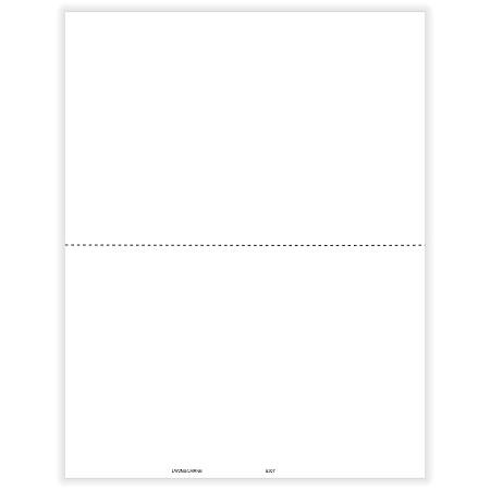 "ComplyRight™ W-2 Tax Forms, With 1 Center Perforation, Inkjet/Laser, Blank, 8-1/2"" x 11"", Pack Of 50 Forms"