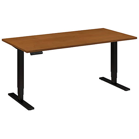 "Bush Business Furniture Move 80 Series 60""W x 30""D Height Adjustable Standing Desk, Natural Cherry/Black Base, Standard Delivery"