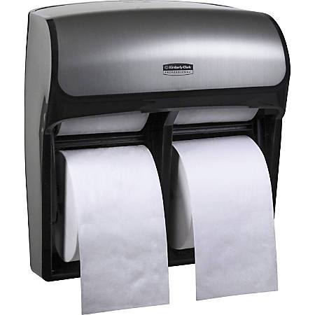 "Kimberly-Clark Professional Mod High Capacity SRB Dispenser - Roll Dispenser - 4 x Roll - 12.8"" Height x 11.3"" Width x 6.2"" Depth - Plastic - Faux Stainless - Compact, Durable"