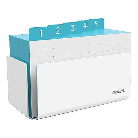 Oxford® at Hand Note Card Organizer, 25 Dot Grid Cards, Shoreline Blue