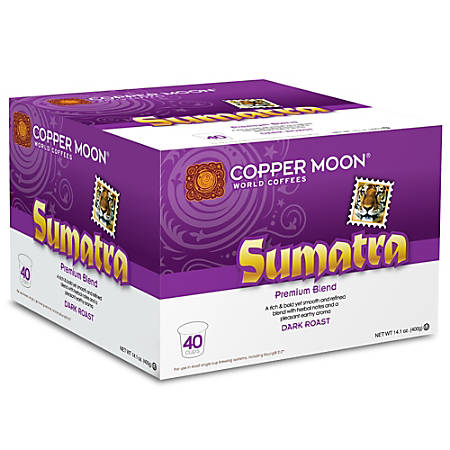 Copper Moon Coffee K-Cups®, Sumatra Blend, 14.1 Oz, Pack Of 40 K-Cups