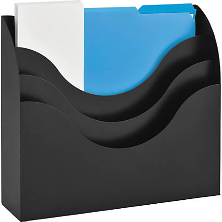 "MMF SteelMaster 3-Tier Sorter - 3 Tier(s) - 12.9"" Height x 11.5"" Width x 3.5"" Depth - Desktop, Wall Mountable - Recycled - Black - Steel - 1Each"