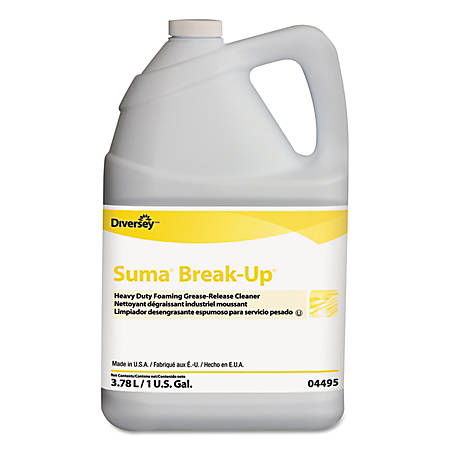 Diversey™ Suma® Break-Up® Heavy-Duty Foaming Grease-Release Cleaner, Unscented, 128 Oz, Pack Of 4