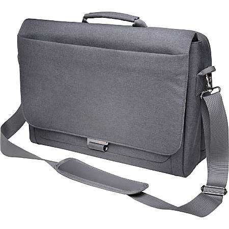 "Kensington K62623WW Carrying Case (Messenger) for 10"" to 14.4"" Ultrabook - Cool Gray - Damage Resistant, Bump Resistant, Drop Resistant - Shoulder Strap, Handle - 11.5"" Height x 16"" Width x 4.5"" Depth"